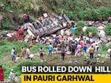 Video : 48 Killed After Bus Falls Into Gorge In Uttarakhand's Pauri Garhwal