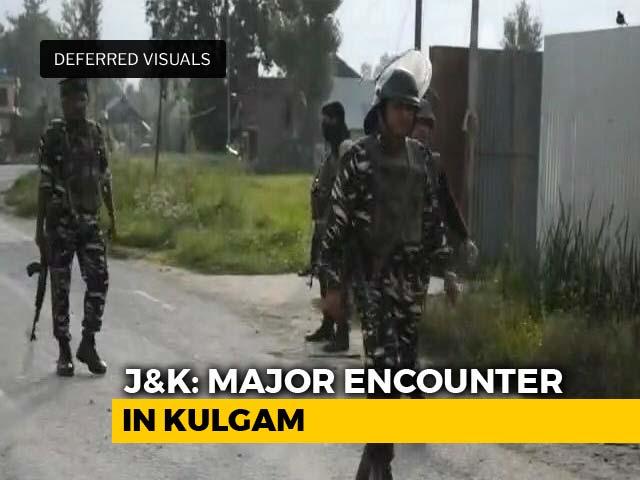Video : 3 Terrorists Shot Dead In Kashmir's Kulgam, Encounter Underway
