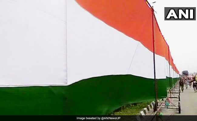 In Kolkata, Huge National Flag Unveiled On Independence Day Eve