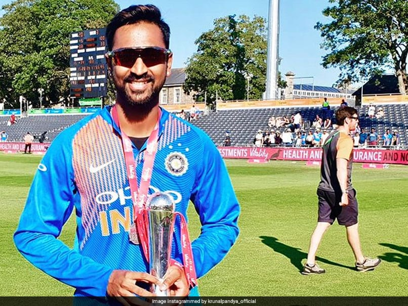 Krunal Pandya Targets India's 2019 World Cup Squad