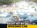 Video : Caught On Camera: Speeding Car Loses Control, Runs Into People In Mumbai