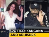 Video : Celeb Spotting: Kangana Ranaut, Abhishek Bachchan & Others