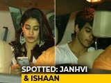 Video : Celeb Spotting: Janhvi Kapoor, Ishaan Khattar & Others