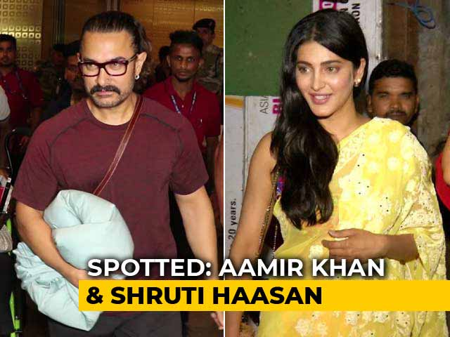 Video : Celeb Spotting: Aamir Khan, Shruti Haasan & More