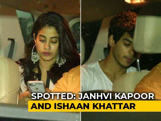 Celeb Spotting: Janhvi Kapoor, Ishaan Khattar & Others