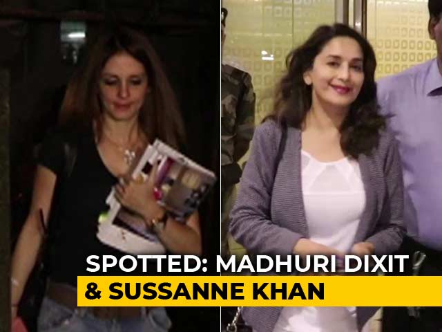 Video : Celeb Spotting: Madhuri Dixit And Sussanne Khan