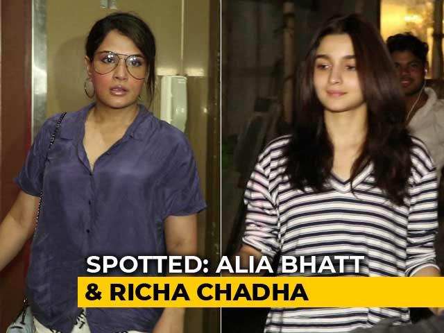 Celeb Spotting: Alia Bhatt, Richa Chadha & Others
