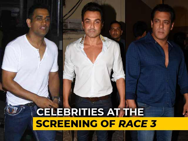 Salman, Dhoni, Bobby & Others At The Screening Of Race 3
