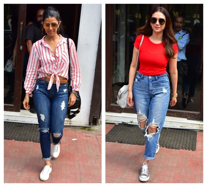 celebs ripped jeans
