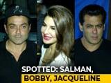 Video: Celeb Spotting: <i>Race 3</i> Stars Salman, Bobby & Jacqueline