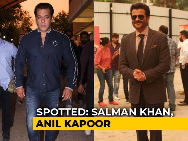 Celeb Spotting: Salman Khan, Anil Kapoor & Other Race 3 Cast Members