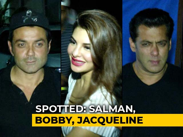 Video : Celeb Spotting: <i>Race 3</i> Stars Salman, Bobby & Jacqueline