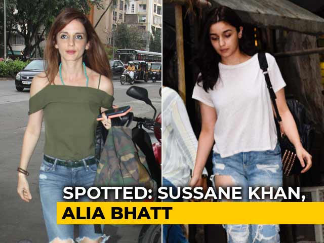 Celeb Spotting: Alia Bhatt, Sussane Khan & Others