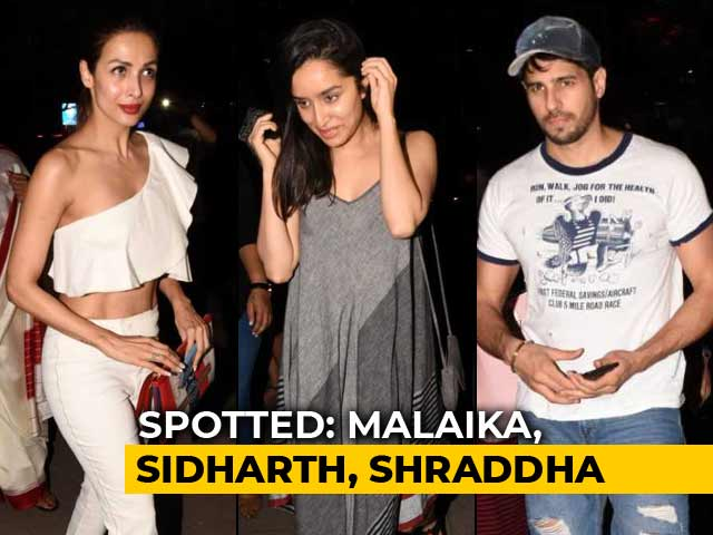 Video : Celeb Spotting: Malaika, Sidharth, Shraddha & More