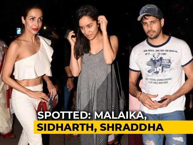 Celeb Spotting: Malaika, Sidharth, Shraddha & More