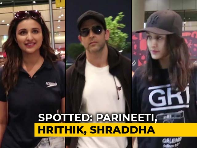 Video : Celeb Spotting: Hrithik, Shraddha & Parineeti