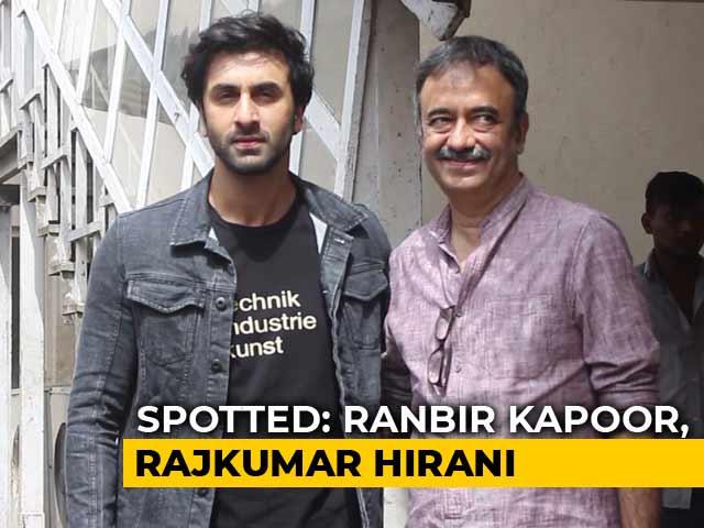Celeb Spotting: Ranbir Kapoor, Rajkumar Hirani & Team Sanju