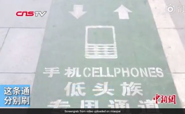 'Smartphone Addicts Only' Special Lane Introduced In This City. Seriously