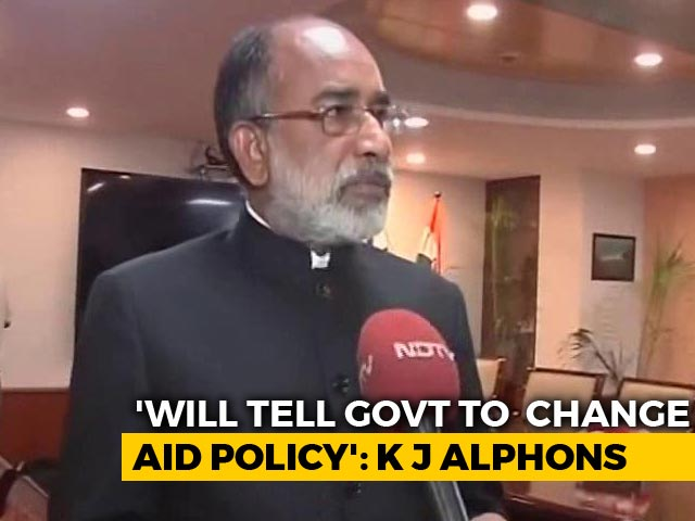 Video: For Kerala, Minister KJ Alphons To Request Centre To Change Policy On Foreign Aid