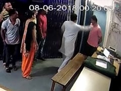 BJP Lawmaker Caught On CCTV Slapping Constable, Threatening To Kill Him