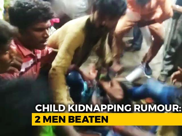 Video : 2 Men Thrashed In Chennai Over Rumours They Came To Kidnap Child