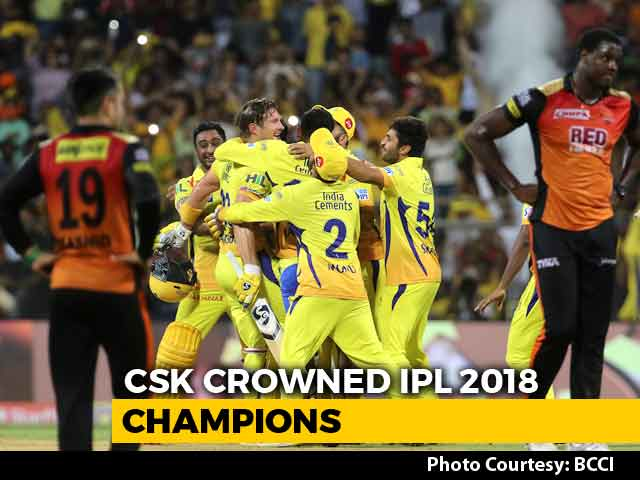 IPL 2018 Final: Shane Watson's Hundred Seals Third IPL Title For Chennai Super Kings
