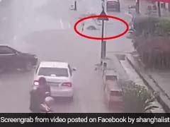 Watch: Passersby Save Boy From Being Swept Away In Fast-Flowing Drain