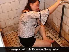 VIDEO: शराब पीने के बाद नशे में बाथरूम गई लड़की, टॉयलेट में फंस गया पैर