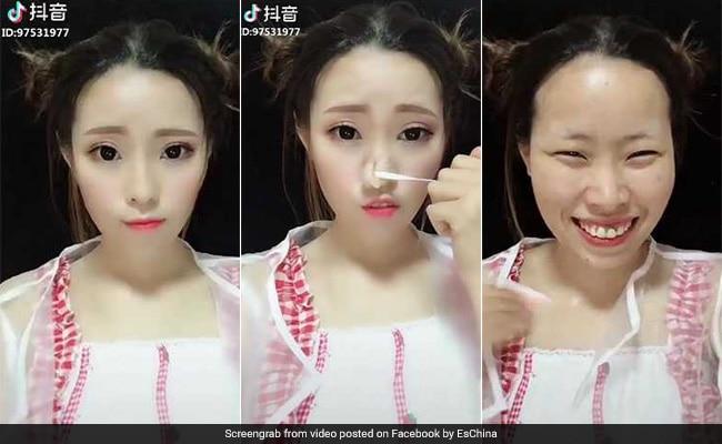 VIDEO: इन लड़कियों ने जैसे ही उतारा मेकअप तो सभी रह गए हैरान, था ऐसा चेहरा