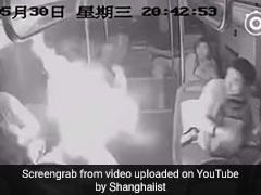 Power Bank Explodes In Man's Bag, Shocking Moment Caught On Camera