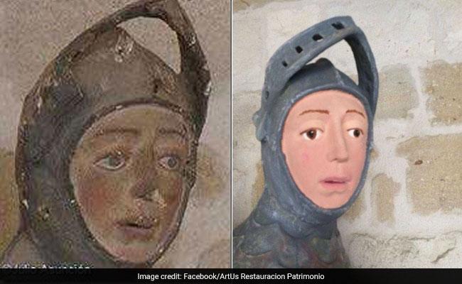 16th Century Sculpture Restored By Art Teacher. Result Is 'Frightening'