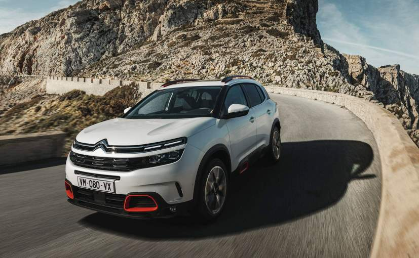 citroen c5 aircross suv revealed for europe ndtv carandbike. Black Bedroom Furniture Sets. Home Design Ideas
