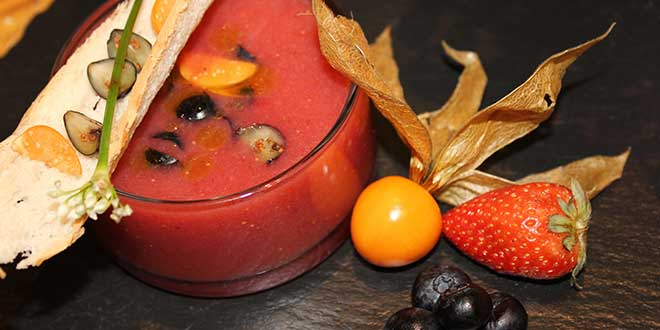 Coconut and Berry Gazpacho