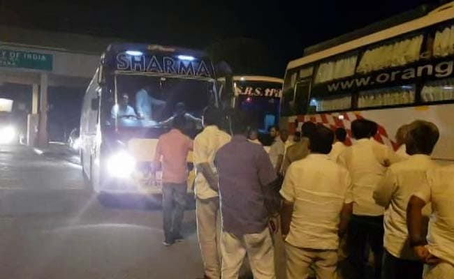 Congress JDs MLAs taken to Hyderabad