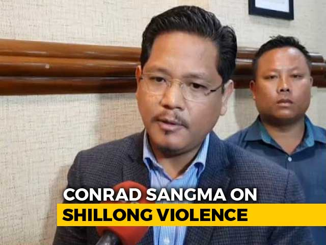 Video : Meghalaya Chief Minister Says Shillong Violence Sponsored, Orders Tough Action