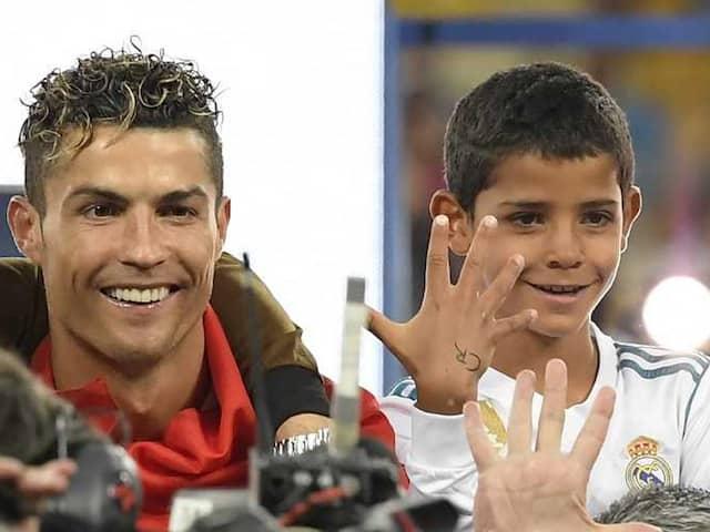 All Smiles As Son Of Ronaldo Scores With Stunning Strike