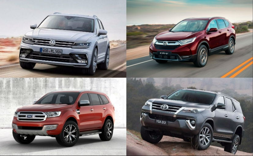 2019 Honda Cr V Vs Toyota Fortuner Vs Ford Endeavour Vs Skoda Kodiaq