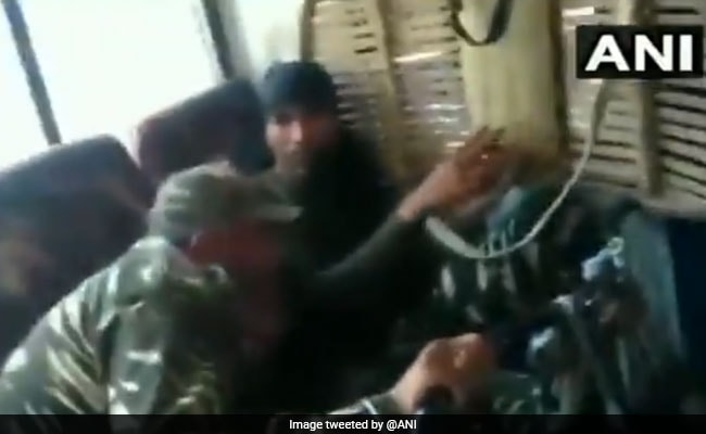 On Video, Kashmir Security Convoy Attacked After Allegedly Hitting Bike