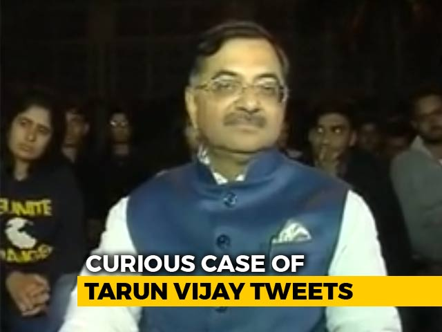 Video : A Tweet On BJP Leader Tarun Vijay's Account On PM Modi Led To A Sacking
