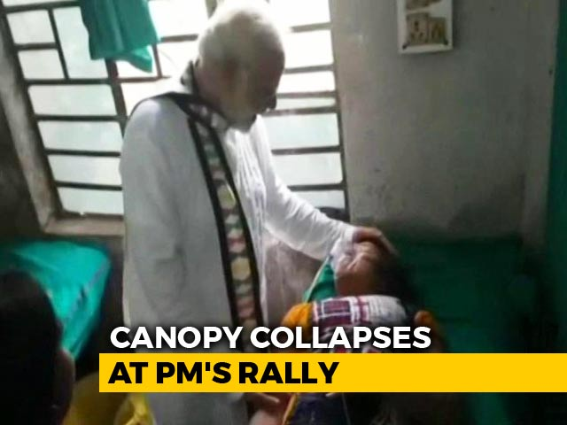 """Video : 44 Hurt After Canopy Collapses At PM's Bengal Rally; """"Don't Run,"""" He Said"""