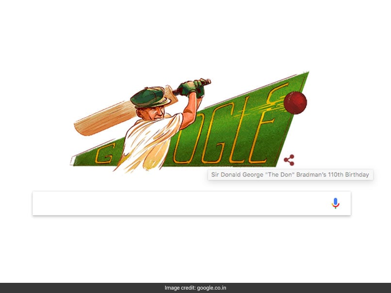 Sir Donald George Bradman S Birthday Google Doodle Honours