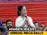 Video : At Her Mega Rally, Mamata Banerjee Makes A Prediction For 2019 Elections