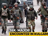Video : 3 Terrorists Shot Dead In Kashmir's Kulgam, Encounter Underway