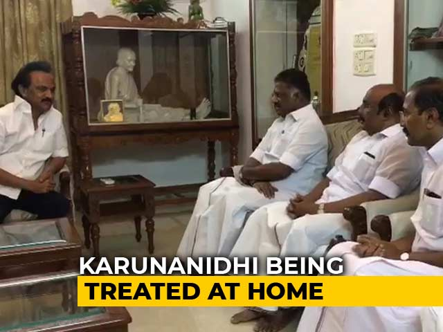 Video : Karunanidhi's Health Has Improved, Says Son MK Stalin