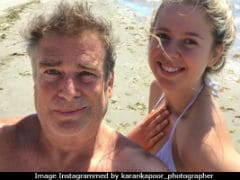 Karan Kapoor And Daughter Aliya In A Rare Selfie From Beach Vacation