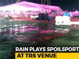 Video : Venue Of KCR Party's Biggest Meet Soaked In Overnight Rain