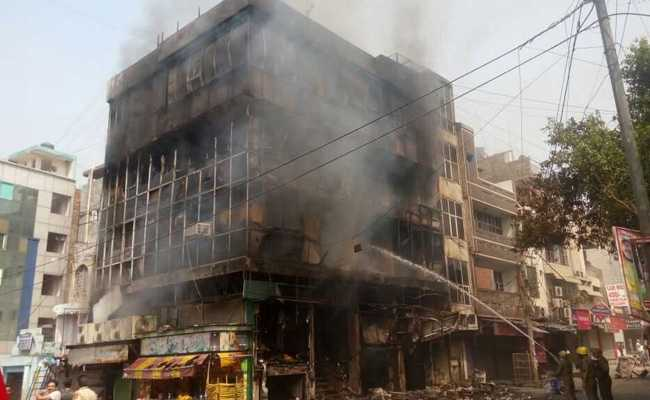 delhi 5 storied building fire taimoor nagar