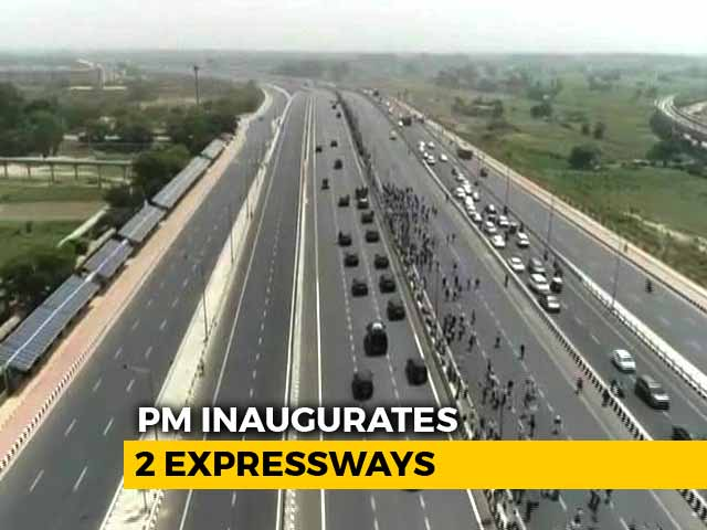 Video : PM Opens 2 Expressways To Cut Delhi Pollution, Travel Time