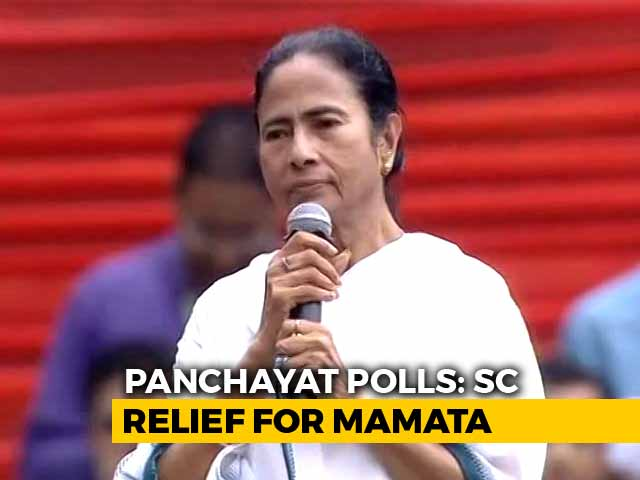 Video : Big Relief For Mamata Banerjee In Supreme Court Order On Rural Body Polls
