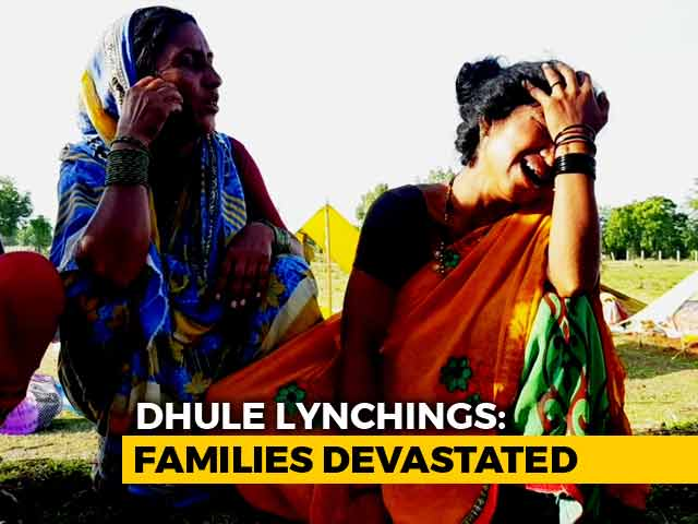 Video : Families Of Men Lynched In Maharashtra Refuse Bodies, Hold Protest